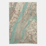 Vintage Map of New York City (1890) Kitchen Towel