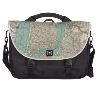 Vintage Map of New York City (1890) Laptop Bags
