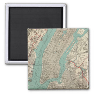 Vintage Map of New York City (1890) Magnet