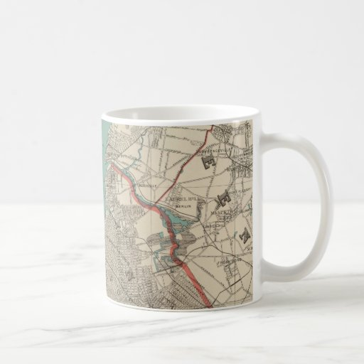 Vintage Map of New York City (1890) Coffee Mug