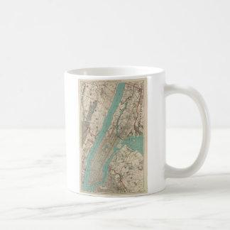Vintage Map of New York City (1890) Classic White Coffee Mug