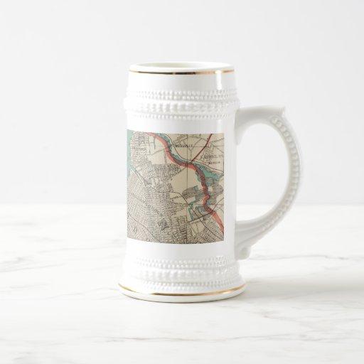 Vintage Map of New York City (1890) Coffee Mugs