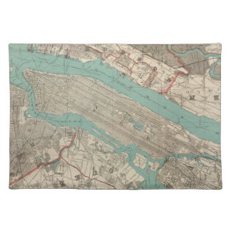 Vintage Map of New York City 1890 Placemat