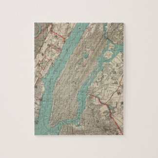 Vintage Map of New York City (1890) Puzzle
