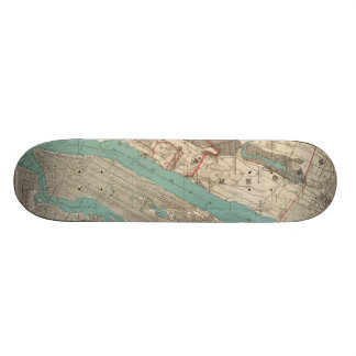 Vintage Map of New York City (1890) Skateboard Deck
