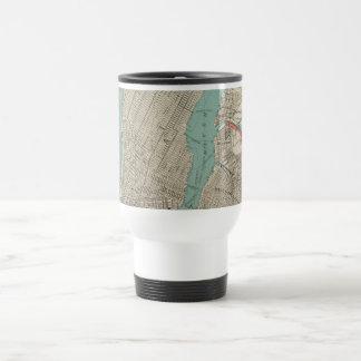 Vintage Map of New York City (1890) Travel Mug