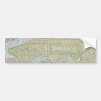 Vintage Map of New York City (1901) Bumper Stickers