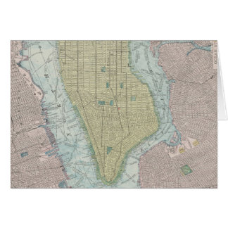 Vintage Map of New York City (1901) Card