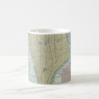 Vintage Map of New York City (1901) Coffee Mug