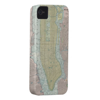 Vintage Map of New York City (1901) iPhone 4 Case
