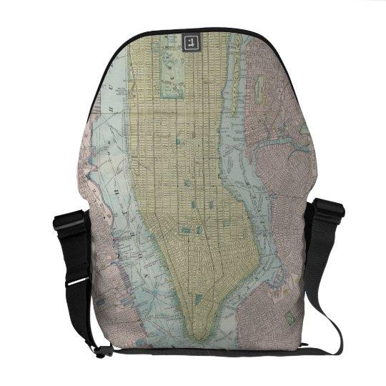 Vintage Map of New York City (1901) Messenger Bag