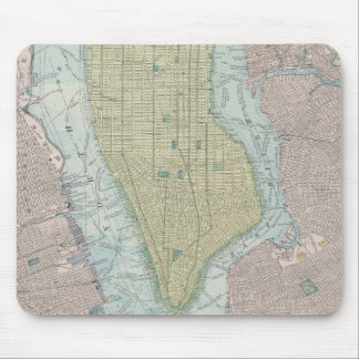 Vintage Map of New York City (1901) Mousepads