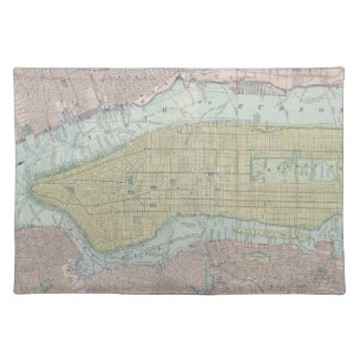 Vintage Map of New York City 1901 Place Mats
