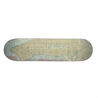 Vintage Map of New York City (1901) Skateboard