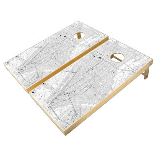 Vintage Map of New York City (1911) Cornhole Set