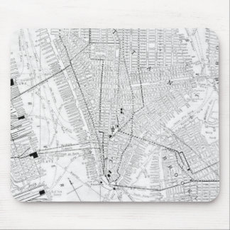 Vintage Map of New York City (1911) Mousepad