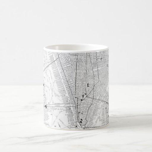 Vintage Map of New York City (1911) Coffee Mug
