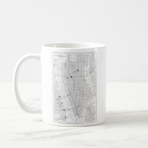 Vintage Map of New York City (1911) Mug