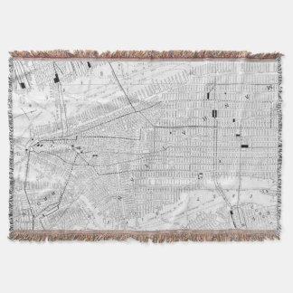 Vintage Map of New York City (1911) Throw Blanket