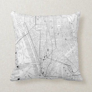 Vintage Map of New York City (1911) Throw Pillow
