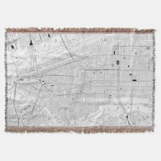 Vintage Map of New York City (1911) Throw Blanket