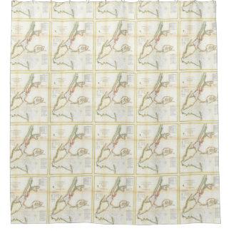 Ny Map Shower Curtains   Zazzle