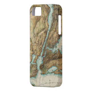 Vintage Map of New York City Harbor (1864) iPhone SE/5/5s Case