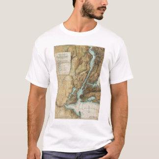 Vintage Map of New York City Harbor (1864) T-Shirt