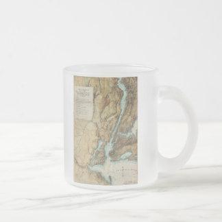 Vintage Map of New York City Harbor (1864) Coffee Mug