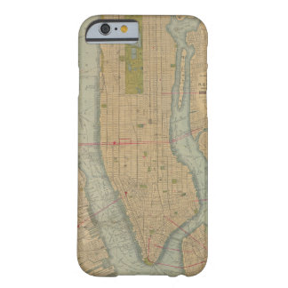 Vintage Map of New York City Manhattan Barely There iPhone 6 Case