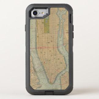 Vintage Map of New York City Manhattan OtterBox Defender iPhone 7 Case