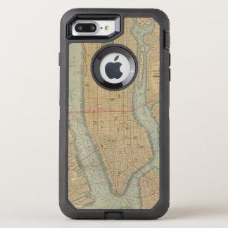 Vintage Map of New York City Manhattan OtterBox Defender iPhone 7 Plus Case