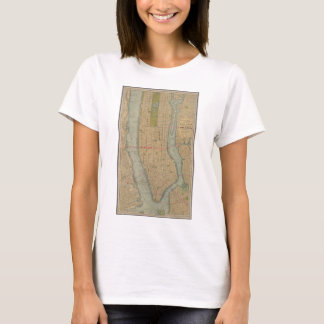 Vintage Map of New York City Manhattan T-Shirt
