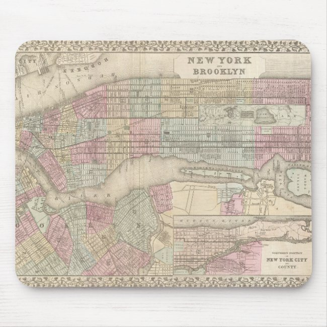 Vintage Map of New York City