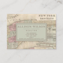 Vintage Map of New York City - Personalized Business Card