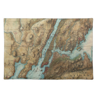 Vintage Map of New York Harbor (1864) Cloth Placemat