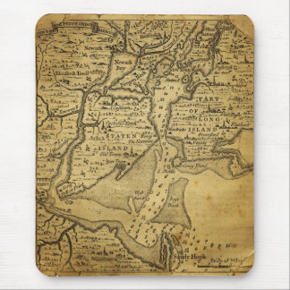 Vintage Map of New York Mouse Pad
