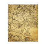 Vintage Map of New York Stretched Canvas Print