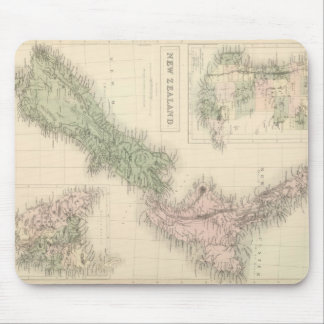 Vintage Map of New Zealand (1854) Mouse Pad
