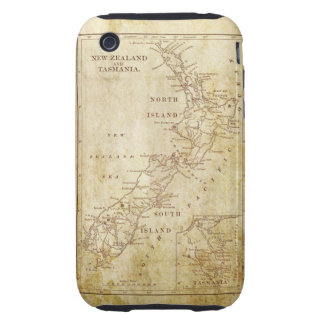 Vintage map of New Zealand c1879 iPhone 3 Tough Cases