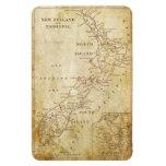 Vintage map of New Zealand c1879 Magnet