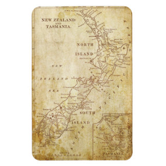Vintage map of New Zealand c1879 Magnet