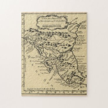Vintage Map of Nicaragua and Costa Rica (1764) Jigsaw Puzzle