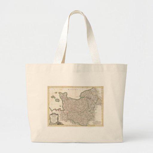 Vintage Map of Normandy (1771) Bag