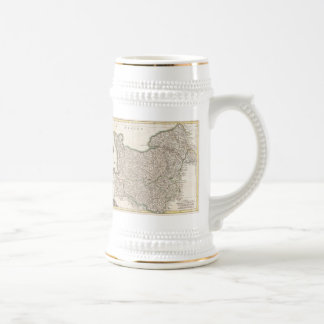 Vintage Map of Normandy (1771) Beer Stein