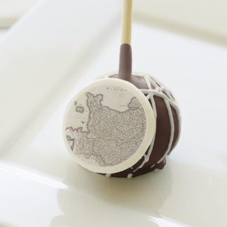 Vintage Map of Normandy (1771) Cake Pops