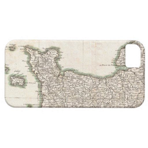 Vintage Map of Normandy (1771) iPhone 5 Cases