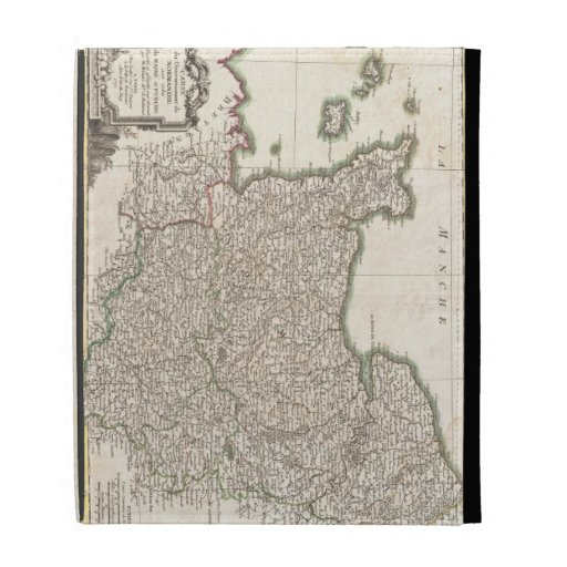 Vintage Map of Normandy (1771) iPad Cases
