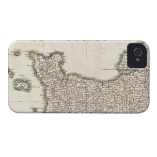 Vintage Map of Normandy (1771) Case-Mate iPhone 4 Cases