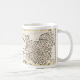 Vintage Map of Normandy (1771) Coffee Mug